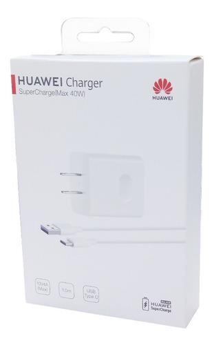 Cargador Tipo Original Huawei Tipo C 40wat  Supercharge
