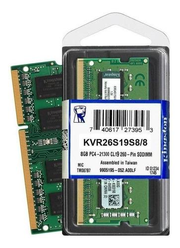 Memória RAM ValueRAM  8GB 1x8GB Kingston KVR26S19S8/8