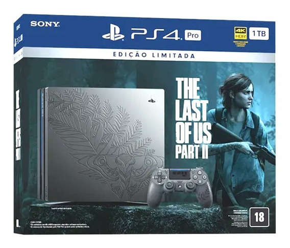 Console Playstation 4 Pro 1tb Limited Ed. The Last Of Us 2