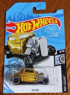 Miniatura Hot Wheels 32 Ford - Dourado - Série Rod Squad !!!