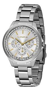 Relógio Fem Lince Pulseira Aço 50m Ref. Lmmh117l-s1sx