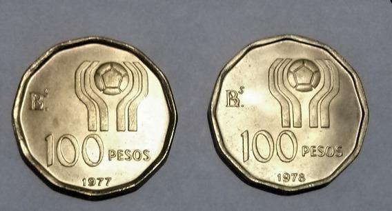 Moneda Argentina (2 L) Conmemorativa 100 Pesos Mundial 78