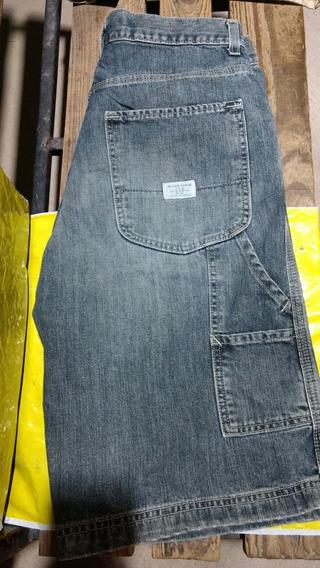 Shorts Bermuda * Gap Talla 30 De Caballero- Mezclilla Azul