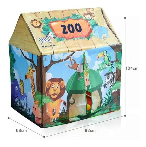 Barraca Infantil Toca Casinha Divertida Zoo À Pronta Entrega
