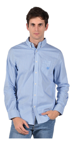Camisa Stretch Fit Chaps Azul 750722885-33oy Hombre