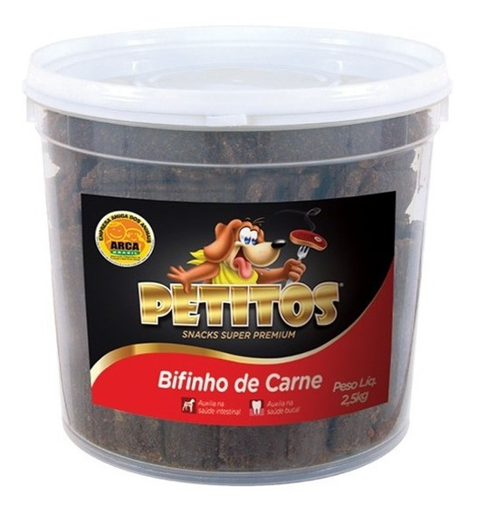 Kit C/ 2 Baldes Bifinho De Carne 5kg Petitos (2un X 2,5kg)