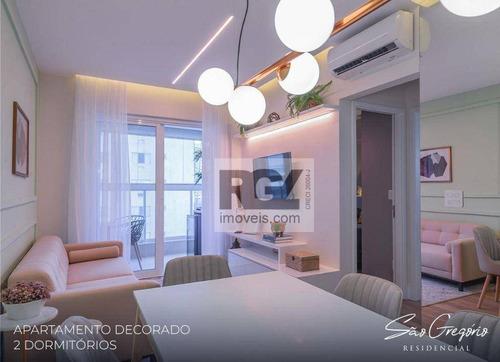 Apartamento Com 2 Dormitórios À Venda, 66 M² Por R$ 690.000,00 - Campo Grande - Santos/sp - Ap5658