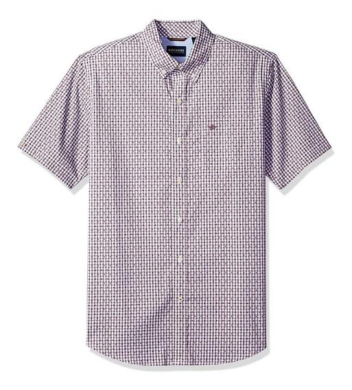 Dockers - Camisa Manga Corta Para Hombre, C: Lucite Black P