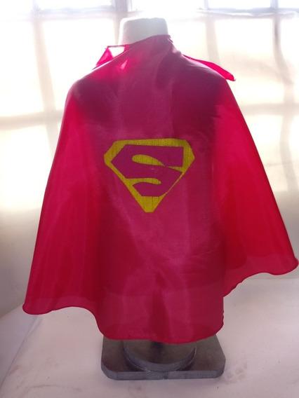 Capa Superhéroes Zorro Batman Superman Tafeta 50cms Mas Logo
