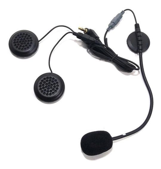 Kit Auriculares Y Microfono Para Intercomunicador E6 Moto Ejeas
