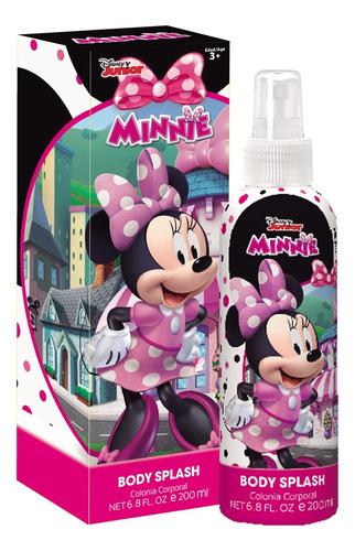 Imagen 1 de 5 de Perfume Para Niñas Disney Minnie Body Splash 200 Ml