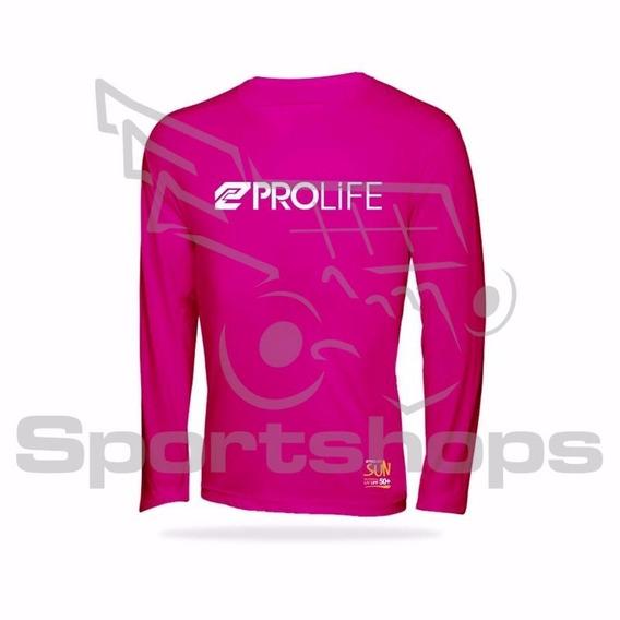 Camiseta De Alta Proteção Solar Adulto Prolife Rosa - Egg