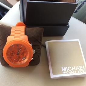 Relógio Michael Kors Mk5296 - Laranja - 100% Original