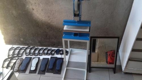 Máquina De Fazer Chinelos Completa Com Expositor Jogo  Facas