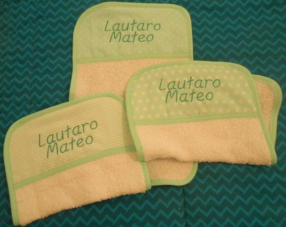 Set De 3 Babitas Con Nombre Bordado. Ideal Baby Shower