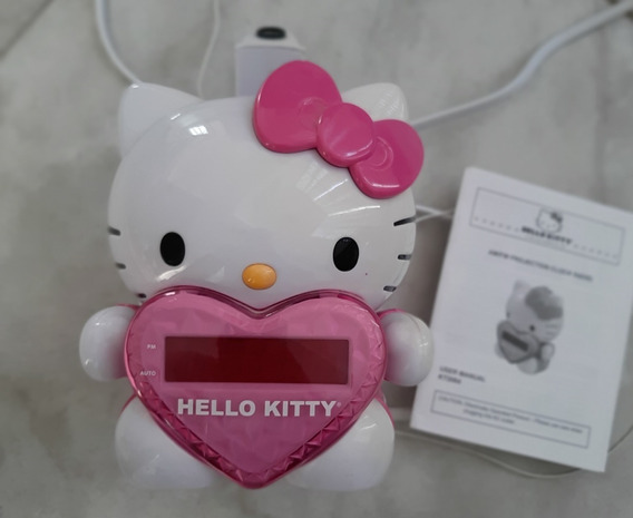 Radio Reloj Despertador Con Proyector Hello Kitty