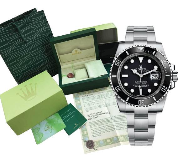 Reloj Rolex Submariner Automatico Cara Negra Con Caja