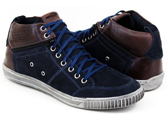 Bota Sapatênis Costurado Cano Alto Masculina Tchwm Shoes5070