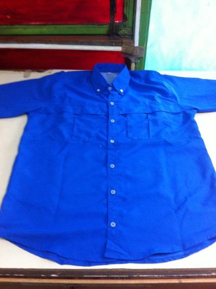 Camisas Tipo Columbia Unicolor Para Damas Y Caballeros