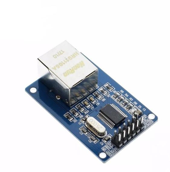Módulo Ethernet Enc28j60 P/ Arduino + Código De Exemplo