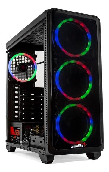 Gabinete Pc Gamer Sentey Z20 Li 4 Cooler Rgb Vidrio Templado