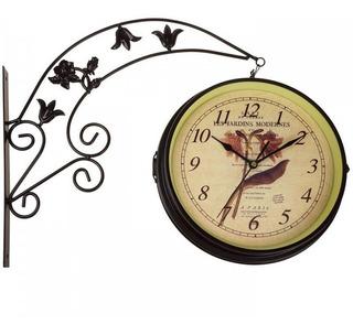 Relógio De Estação Parede Cozinha Antigo Analógico Retrô