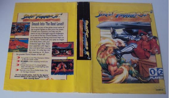 Encarte De Locadora - Street Fighter Ii Special C. Edition