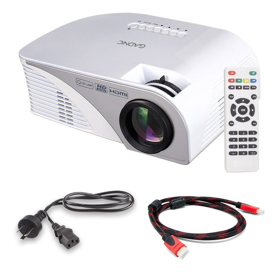 Mini Proyector Portatil Led 1200 Lumenes Gadnic Hdmi Tv
