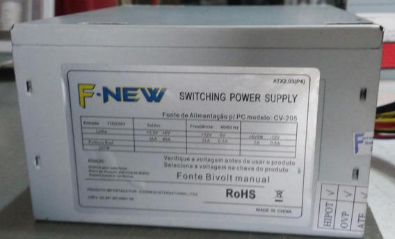 Fonte Atx 24pinos Sata 205w Model Cv-205 Testada Leiam Ref: 02654