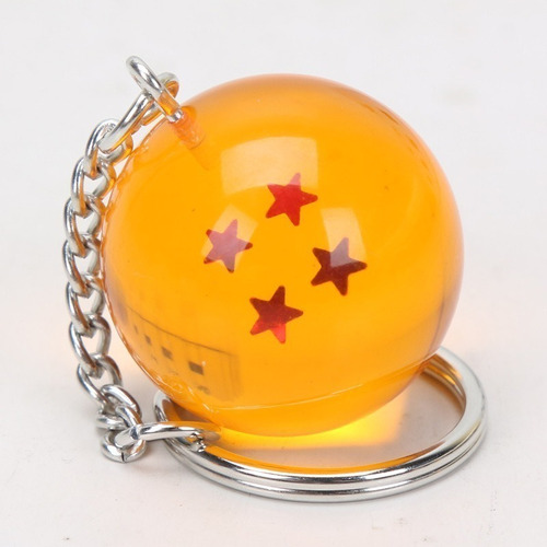 4 Estrellas G/énerico DRAGON BALL Llavero 3D Bola de cristal Esfera M/ágica Dragon Ball Z Son Goku//Shenlog