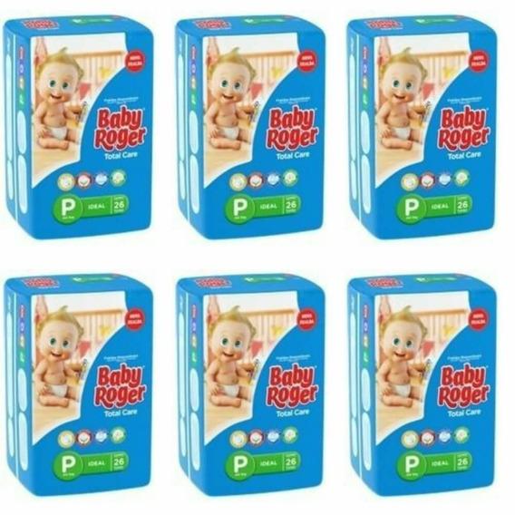 Baby Roger Ideal Fralda Infantil P C/26 (kit C/06)