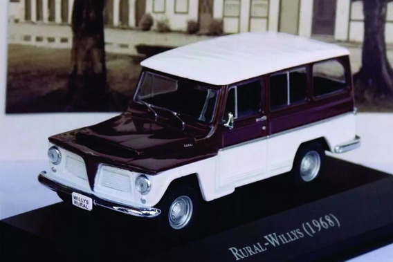 Linda Miniatura Rural-willys 1968 - Acompanha Revista !!!