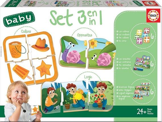 18123 Set Baby 3 En 1 54 Piezas Educa