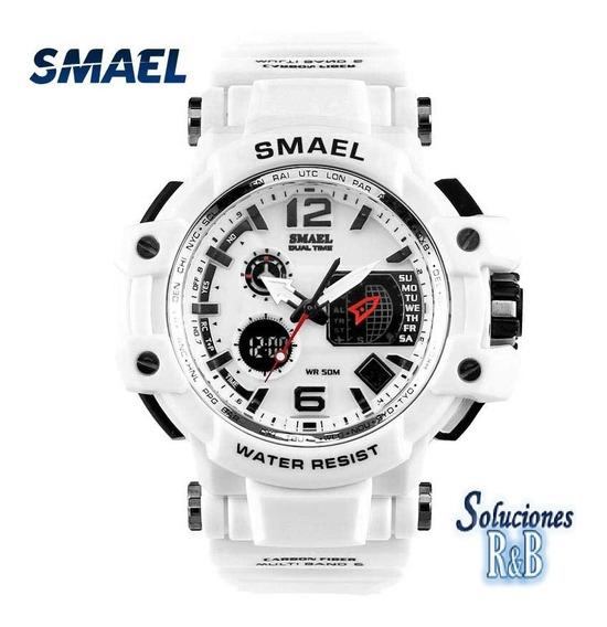 Reloj Deportivo Smael Blanco Hombres 5 Atm Original