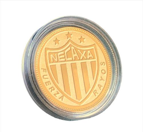 Imagen 1 de 5 de Moneda Rayos Del Necaxa Baño Oro 14k Original Regalo Soccer