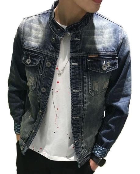 Jaqueta Jeans Masculino Moda Com 6 Bolso