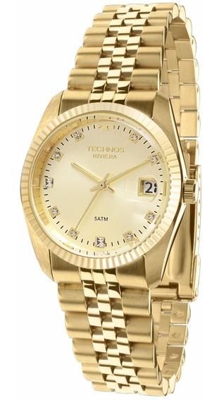 Relógio Technos Unissex Riviera Gm10yb/4x Dourado