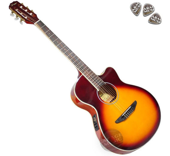 Guitarra Electro Criolla Acústica Media Caja Funda Cd Curso