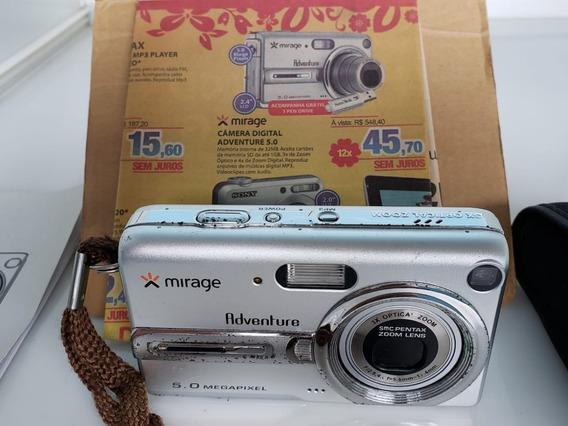 Câmera Digital Antiga Mirage Na Caixa Pra Colecionador Usado