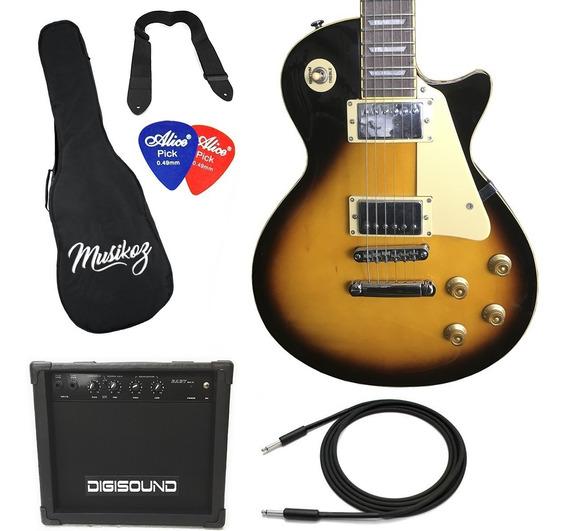Guitarra Eléctrica Tipo Les Paul Amplifiador 15w Y Regalos!
