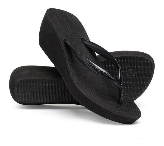 Chinela Havaianas Feminina High Light Preta Original