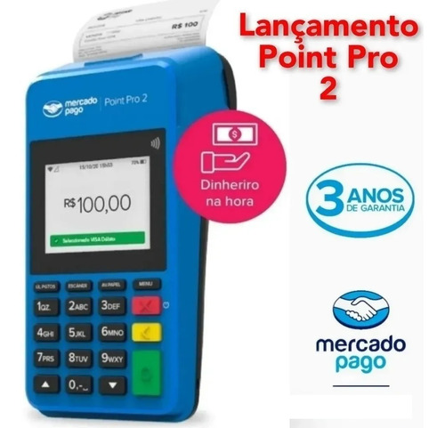 Imagem 1 de 4 de Maquina Mercadopago Point Pro 2