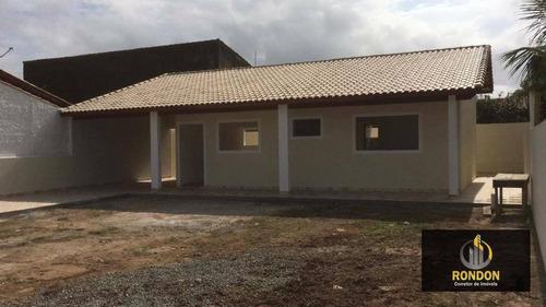 Casa Com 3 Dormitórios À Venda, 110 M² Por R$ 390.000,00 - Residencial Parque Augustus - Itanhaém/sp - Ca1418