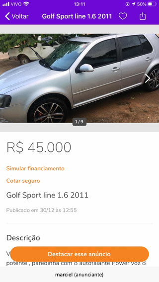 Volkswagen Golf 1.6 Vht Sportline Total Flex 5p 2011
