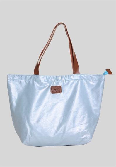 Bolsa Com Zíper Céu Azul