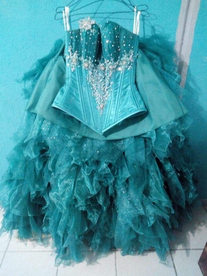 Vestido De Xv Años Color Verde Jade