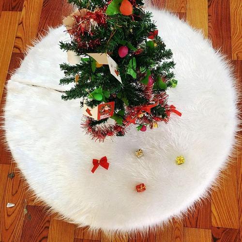Vctops Falda De Árbol De Navidad De Piel Sintética Supersuav