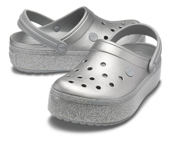 Crocs ® Originales Plataforma Metallic Clg Suecos Mujer