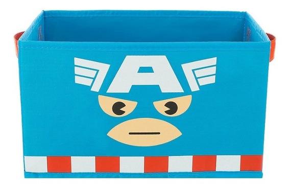 Caixa Organizadora Com Zíper Marvel Miniso - Capitão América