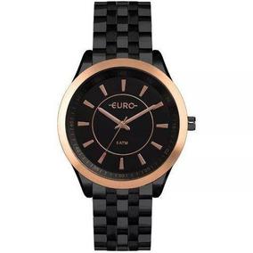 Relógio Euro Feminino Preto Slimeu2035yow/4p
